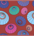 seamless pattern with colourful japan vector image vector image