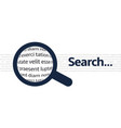 search icon with closeup text background vector image vector image