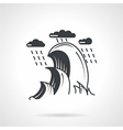 Seascape monochrome black icon vector image