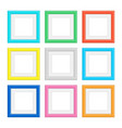 set colored frames vector image vector image