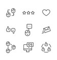 set icon social networks in thin line style vector image