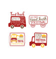 set of creative logo templates for food vector image vector image