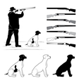 set of for hunters vector image