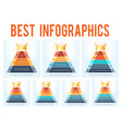 set templates business modern 7 infographics vector image