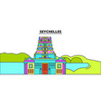 seychelles line skyline vector image