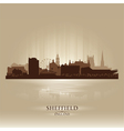 Sheffield England skyline city silhouette vector image vector image