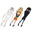 Soccer players in different colours vector image vector image