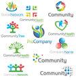 Social Community icons Logos Set vector image vector image