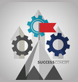 success concept card vector image vector image