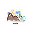 template golf logo funny cartoon colored logo vector image vector image