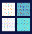 triangle seamless background set vector image