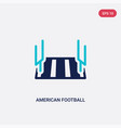 two color american football stadium icon from vector image