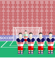 USA Soccer Club Penalty on a Stadium vector image