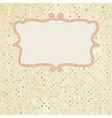 Vintage dot Invitation Template vector image vector image