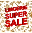 Winter sale poster with LINGERIE SUPER SALE text vector image vector image