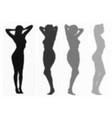 womans shadows mini set vector image vector image