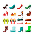 womens shoes set elegant evening shoes platform vector image