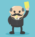 big boss raised yellow card Notifications personn vector image