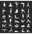 Yoga postures exercises set vector image