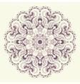 Beautiful purple lace pattern background vector image