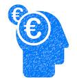 euro businessman intellect icon grunge watermark vector image