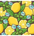 Seamless lemon and peppermint vector image