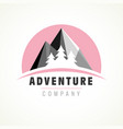 adventure mountain tree logo vector image