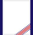 american flag ribbon corner frame vector image vector image