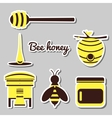 Apiary Set Icons vector image vector image
