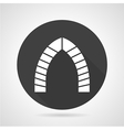 Archway black round icon vector image vector image