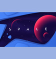 background on theme outer space vector image