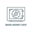 bank money safe line icon bank money safe vector image vector image