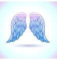 Beautiful cartoon angel wings vector image vector image