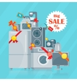 Big Sale in Electronics Store Flat Concept