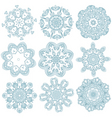 blue embroidery vector image vector image