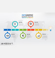 business timeline infographic template with 5 vector image