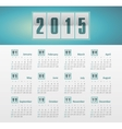 Calendar 2015 year with gradient vector image vector image