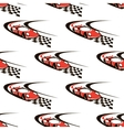 Car racing seamless pattern vector image vector image