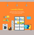 cartoon interior laundry room with furniture vector image