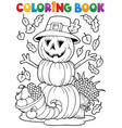 coloring book thanksgiving image 4 vector image vector image