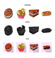 design of confectionery and culinary symbol vector image vector image