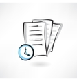 Document loading grunge icon vector image vector image