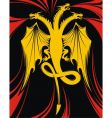 dragon with three heads vector image vector image