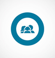 family bold blue border circle icon vector image