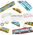 flat city public transport template vector image