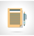 Flat color icon for writing article vector image
