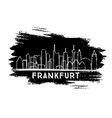 frankfurt germany city skyline silhouette hand vector image vector image