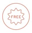 Free tag line icon vector image