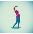 Golf player Isolated cartoon character Sport vector image