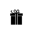 icon gift box vector image